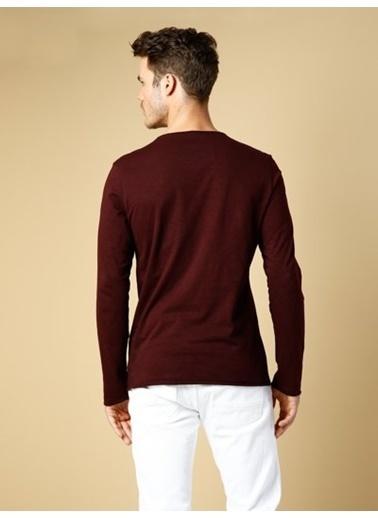 Colin's Uzun Kollu T-Shirt Bordo